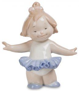 Девочка ангелочек балерина. Фарфор.