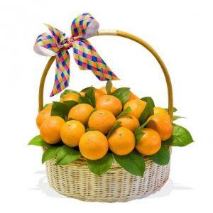 Корзина мандаринов