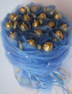 Букет из конфет «Фереро Роше» (Голубой)