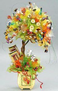 Деревце с шоколадными конфетами и шоколадом