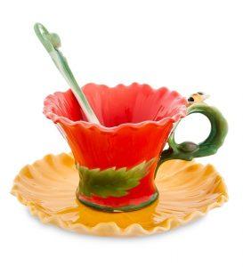 Чайная пара «Маки»-фарфор