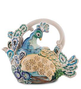 Заварочный чайник Павлин-ручная роспись