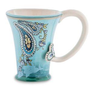 Чашка Павлин- ручная роспись