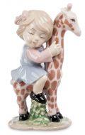 Фигурка «Девочка на жирафе»