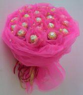 Букет из шоколадных конфет (Розовый)