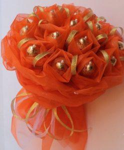 Букет из шоколадных конфет (Оранжевый)