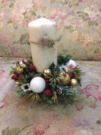 Новогодняя свеча со снежинкой